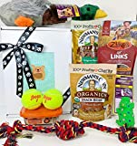Deluxe Dog Gift Box Basket with 4 Grain Free...