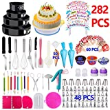 Cake Decorating Supplies 2019 Newest 282 PCS Baking Set with Springform Cake Pans Set,Cake Rotating...