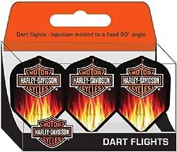 Harley-Davidson L-Style Flaming Bar & Shield Logo Flights - Pack of 3 6251D