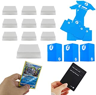 DeElf 1000 Clear Trading Card Sleeves 66mm x 91mm for Boardgame with TCG Size or Standard Size Cards