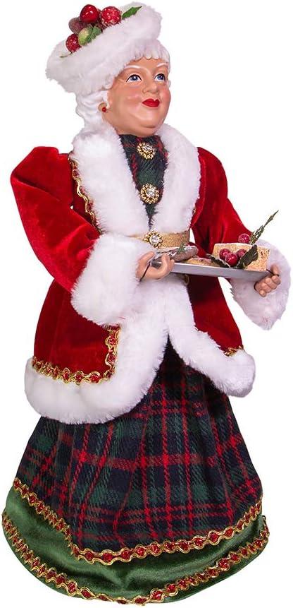 Kurt S. Adler Kurt Adler 16-Inch Kringle Klaus Mrs. Claus with Cookies Santa, Multi