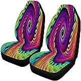 A Parsley Store Dünne abstrakte mehrfarbige psychedelische gewundene Autositz-Abdeckungs-Vordersitze nur voll