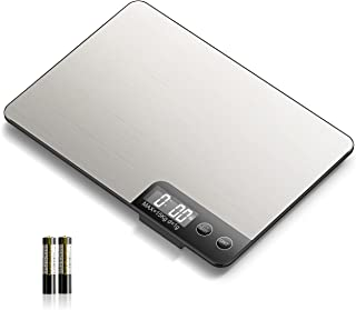 WOWBUY Kitchen Scale, 15kg/33lb Food Scales Digital Weight Grams and oz , with Stainless Steel Platform, 1g/0.1oz Precise ...