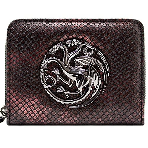 Game of Thrones Drachenflügel Reißverschluss Portemonnaie Geldbörse Rot