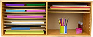 AdirOffice Wood Literature Organizer Sorter - Vertical Paper Storage File Holder - A Stylish Look for Home, Office, Classr...