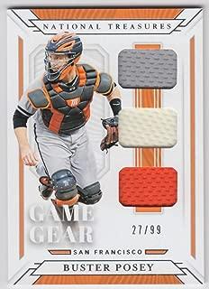Buster Posey 2019 Panini National Treasures Game Gear Materials Trios JSY #25 NM-MT MEM #27/99 Giants Baseball MLB