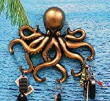 "Ebros Gift The Call of Cthulhu Deep Sea Kraken Octopus Monster Wall Mount Key Holder Tentacle Hooks Sculpture Plaque Figurine 11.25"" H"
