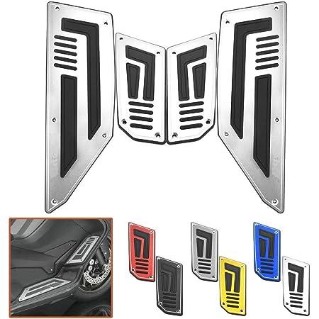 Tarente Repose Pied 4pcs Moto Marchepied Footpeg Repose-Pieds Step Pad Compatible with Y-a-m-a-h-a T-Max 530 2012-2016 Noir