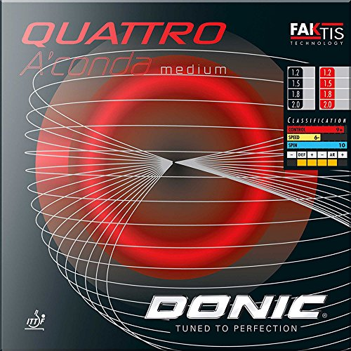 DONIC Belag Quattro Aconda MEDIUM, rot, 1,5 mm