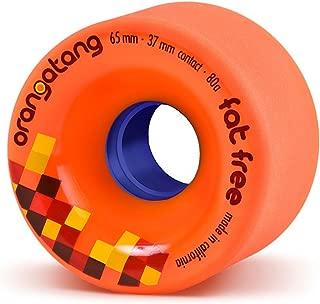 Orangatang Fat Free 65 mm Freeride Longboard Skateboard Wheels (Set of 4)