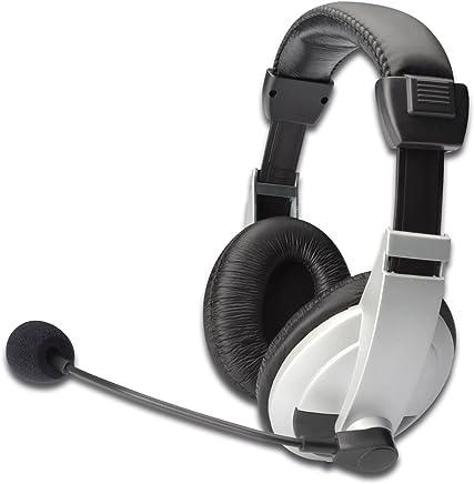 Ednet E83130 Cuffie Multimedia con Microfono, Controllo Volume, Auricolari Imbottiti, Cavo 1.8 mt - Trova i prezzi più bassi