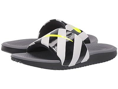 Nike Kids Kawa Slide HZ (Little Kid/Big Kid) (Gunsmoke/Volt/Vast Grey/Black) Boys Shoes