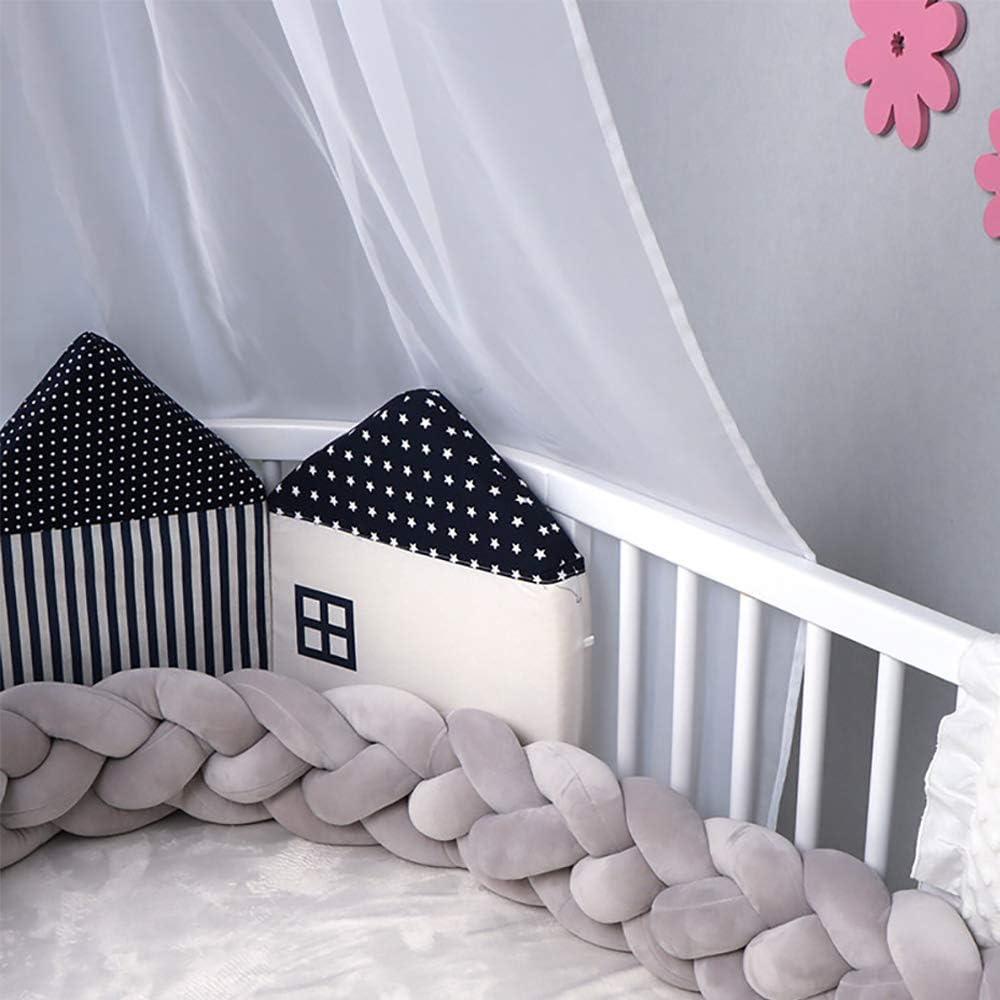 JYSPT Baby Crib Bumper Knotted Braided Bumper Handmade Soft Knot Pillow Newborn Gifts Crib Protector Sleep Cot Bumper