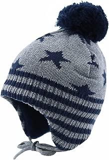 Bestjybt Baby Hat Cute Infant Toddler Girls Boys Earflap Fleece Lined Beanie Warm Cap for Fall Winter