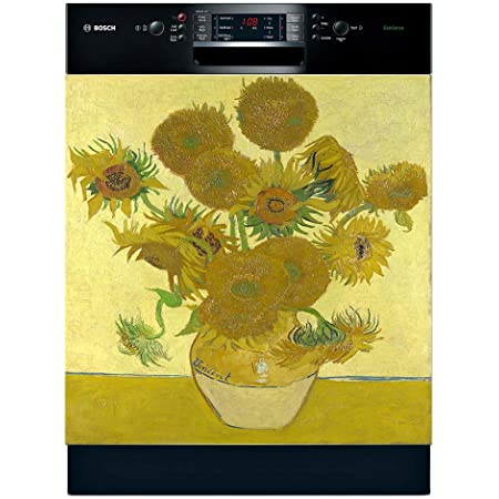 Easy Update 23.5 x 26 Inches, Easily Trimmable, Caf/é Terrace Famous Paintings Magnetic Dishwasher Door Cover Sheet Vinyl Decorative Panel Decal For An Instant