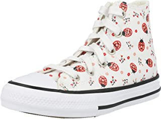 Converse Chuck Taylor All Star Hi Flowery Bugs Blanc/Noir Toile Ado Formateurs Chaussures