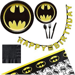 Batman TABLE DECORATION KIT Boys Birthday Party Supplies Bat Man Heroes Unite