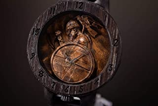 Viking with raven Wooden Watch FREE SHIPPING engraving and customization