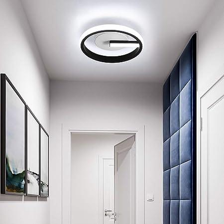 Osairous Plafonnier LED, Lampe de Plafond Moderne 18W, Ø20CM Plafonnier LED Acrylique pour Cuisine, Chambre à Coucher, Couloir, Blanc froid 6000K