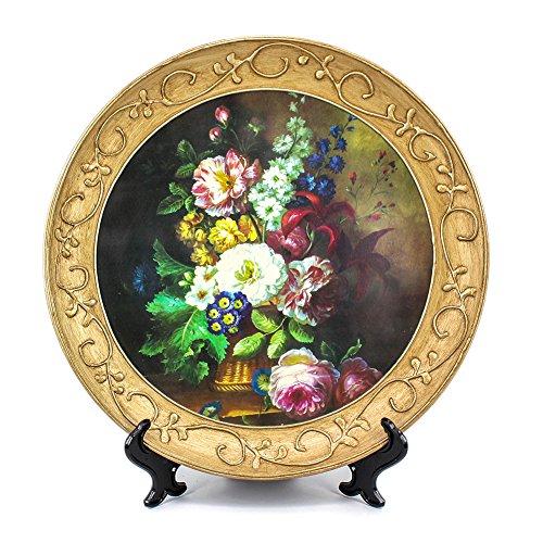 ZHAMS 10'' Ceramic Decorative Plate, Art Decoration (B)