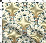 Blume, Art Deco, ägyptisch, Ägypten, Papyrus Stoffe -