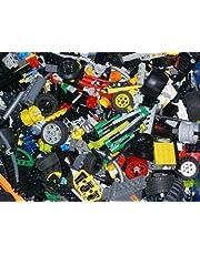100 delar LEGO TECHNIC, t.ex. axlar, stift hålbalkar, kontakter etc. Teknik