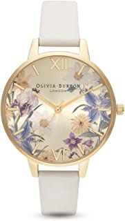 Olivia Burton Women's Quartz Watch, Analog Display and Leather Strap OB16EG121