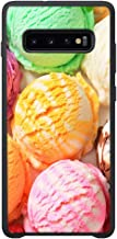 AOFFLY Case for Samsung Galaxy S10 - Colorful Ice Cream Ball - Shock Absorption Protection Phone Cover Case