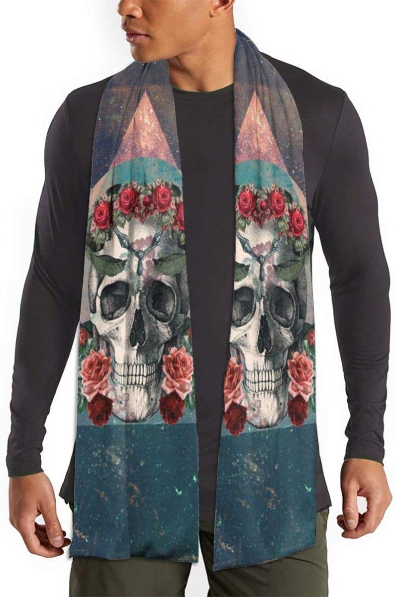 QBahoe Mexican Rose Sugar Skull Scarf for Women Men Lightweight Unisex Fashion Soft Winter Scarves Shawl Wraps