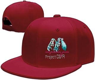 beetful Hatsune Miku Plain調整可能なスナップバック帽子キャップ