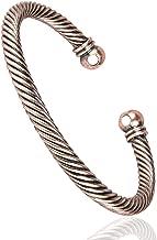 Sunwing Pure Copper Alloy Torque Healthy Magnetic Power Bracelet Bangle Adjustable C03