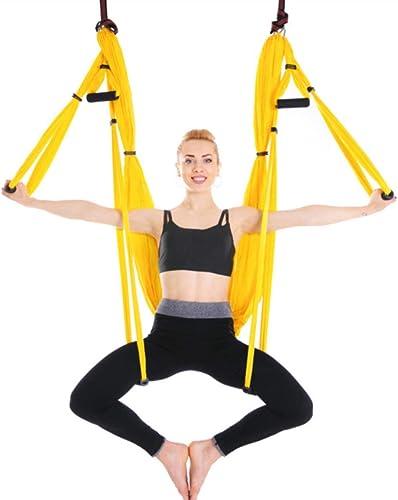 Leaysoo Hamac-intérieur extérieur Renversement Parachute aérienne Yoga Yoga hamac Yoga Swing Fitness,6,B