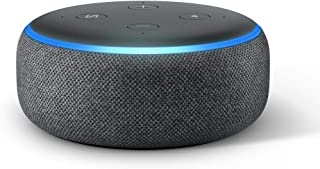Echo Dot (3rd Gen) – Smart speaker with Alexa - Charcoal Fabric