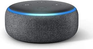 Echo Dot (3rd Gen) – Smart speaker with Alexa - Charcoal Fabric
