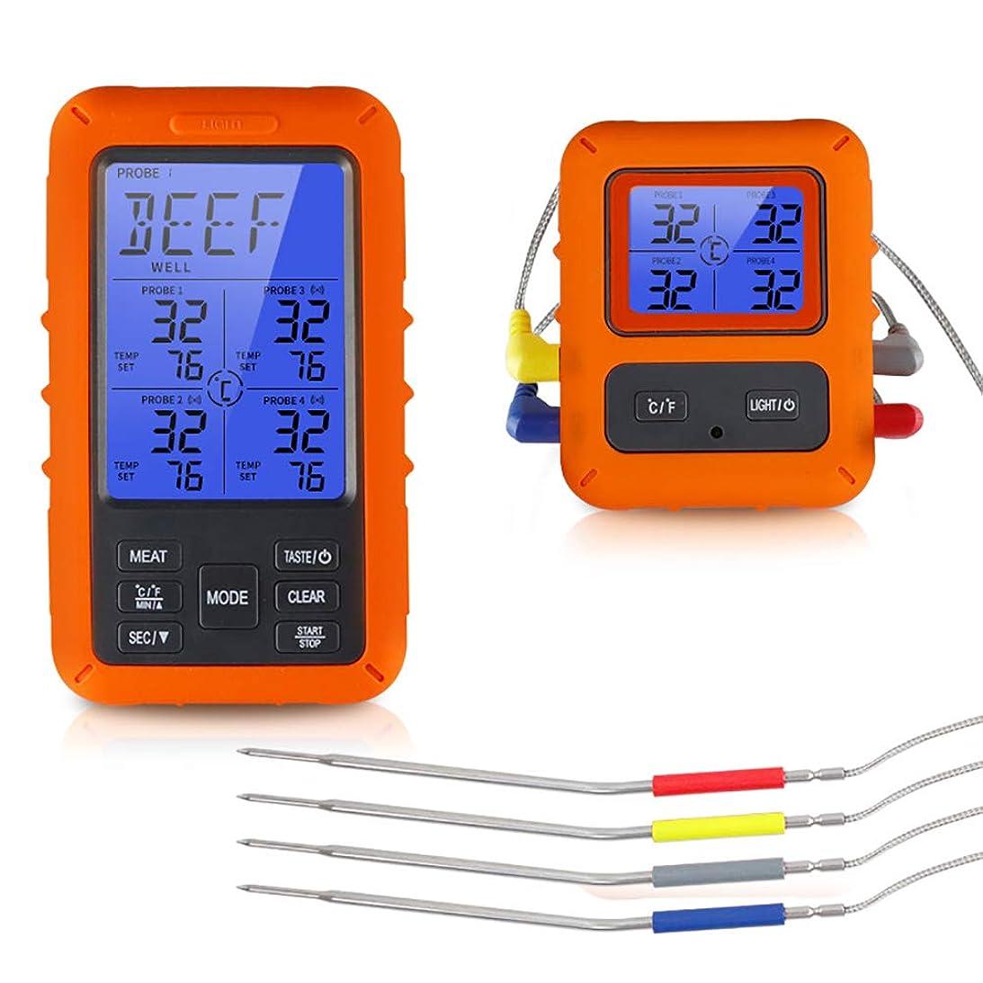 責任篭蓋防水BBQオーブン肉グリル温度計タイマーのアラームを調理調理温度計、無線電子デジタルディスプレイバックライト食品