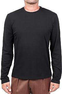 MAJESTIC FILATURES MOD. M537-HTS023 - Camiseta de cuello redondo de algodón Silk Touch para hombre, color negro