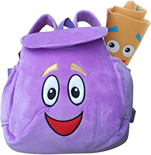 Dora Explorer Backpack Rescue Bag,Purple Dora Explorer Soft Plush Backpack , For Backpacks Pre-Kindergarten Toys Birthday And New Year Gifts
