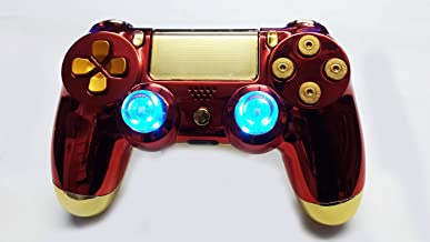 Custom Bullet Buttons Led Iron Man Sony Dualshock 4 Modded Wireless Controller PlayStation 4