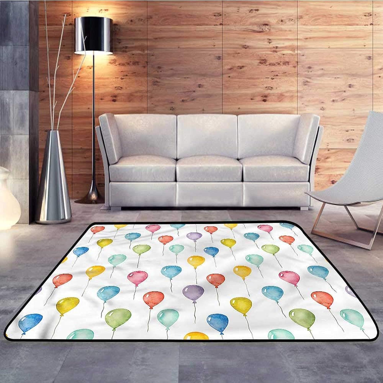 Carpet mat,colorful,colorful Cute BalloonsW 47  x L59 Floor Mat Entrance Doormat