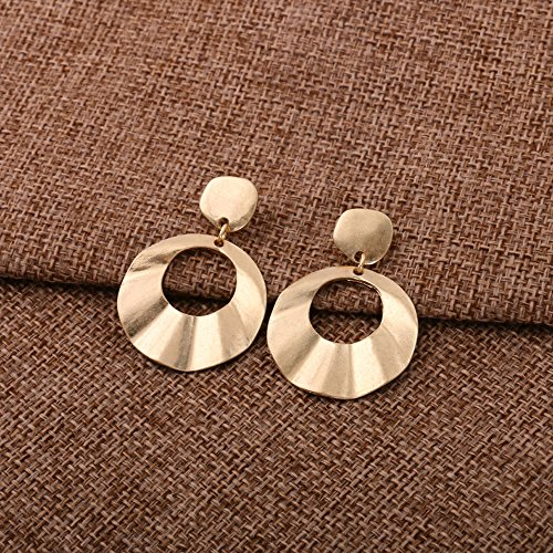 Kercisbeauty Ohrringe, originelles Design, mit zwei Kreisen, für Damen und Mädchen, perfektes Geschenk für sie, Geburtstag, Jahrestag, Alltag, Party-Zubehör