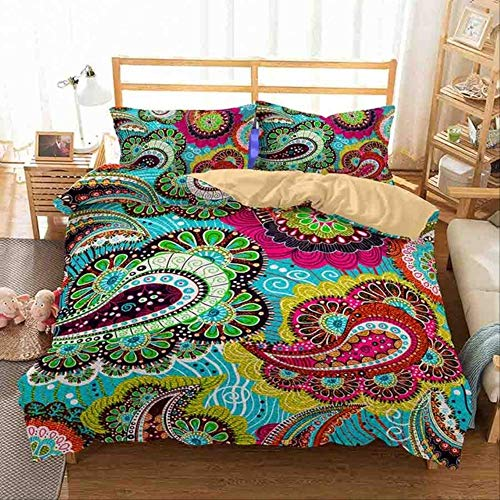 WGLG 100% Microfiber Bedding Set Mandara Floral Printed 3d Duvet Cover Set Twin Full Queen King Sizes Pillowcase Bedclothes