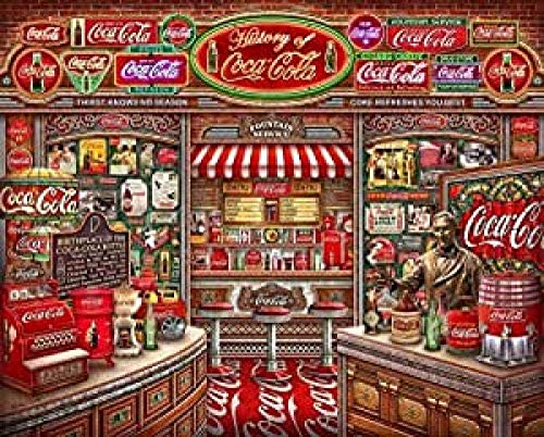 Puzzle De Madera Coca Cola Story Painting Puzzle 1000 Piezas Iq Challenge Juegos De Memoria 50X75Cm,Jigsaw Puzzle