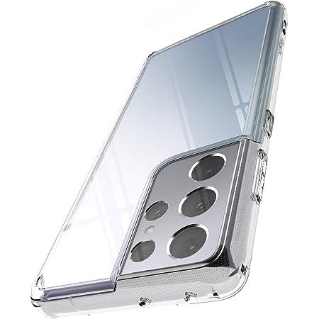 "Ringke Fusion Compatible con Funda Galaxy S21 Ultra 5G (6.8"") Hybrid PC Trasera Dura con Parachoques de TPU Flexible - Clear Transparent"