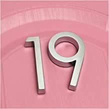 CHSDN Deurnummer 2 stuks cijfers deur Plaque House lade teken geplateerd Gate cijfers 0 tot 9 plastic nummer dag hotel hom...