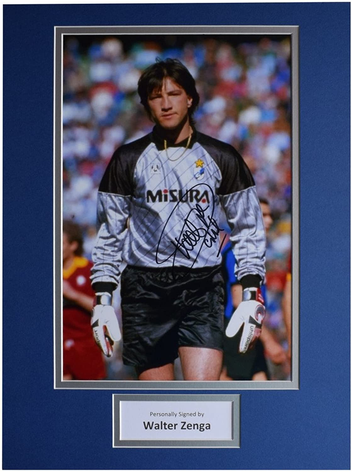 Sportagraphs Walter Zenga SIGNED autograph 16x12 photo display Inter Milan Football AFTAL COA PERFECT GIFT