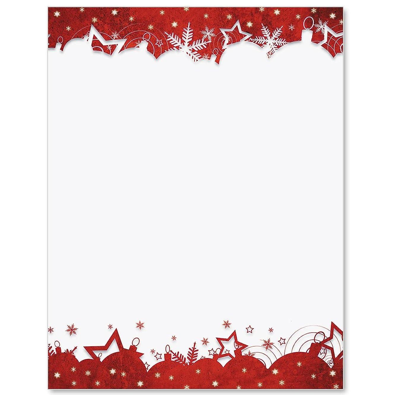 メトロポリタン完璧な充実レッド祝賀会印刷可能な招待状、証明書と境界線?ペーパー(28または50?Count)