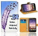 Huawei Y625 Handy Tasche, FoneExpert® Wallet Hülle Flip Cover Hüllen Etui Ledertasche Lederhülle Premium Schutzhülle für Huawei Y625 (Pattern 7)