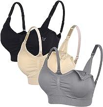 3 stuks Naadloze zwangerschaps-bh voor dames, niet-beugel, verwijderbare, gewatteerde slaapcomfortabel voor borstvoeding (M)