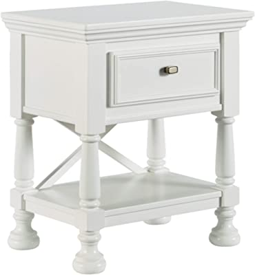 Signature Design by Ashley Kaslyn Country Cottage 1 Drawer Children's Nightstand, White