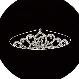 Fashion Baroque Luxury Crystal AB Bridal Crown Tiaras Light Gold Diadem Tiaras for Women Bride Wedding Hair Accessorie,2